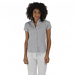 Regatta - Blue mindano short sleeved shirt