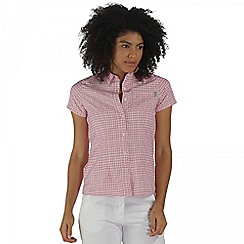 Regatta - Pink mindano short sleeved shirt