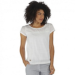 Regatta - White Feronia cotton top