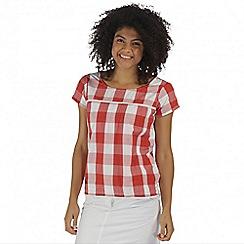 Regatta - Red Feronia cotton top