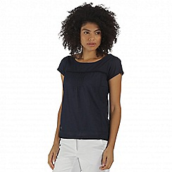 Regatta - Navy Feronia cotton top