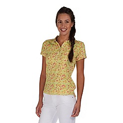 Regatta - Yellow fortunella polo shirt