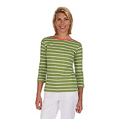 Regatta - Green prairie stripe t-shirt
