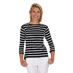 Regatta - Navy prairie stripe t-shirt