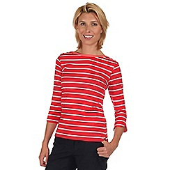 Regatta - Red prairie stripe t-shirt