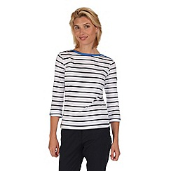 Regatta - White prairie stripe t-shirt