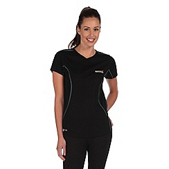 Regatta - Black luray quick drying t-shirt