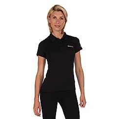 Regatta - Black maverik polo t-shirt