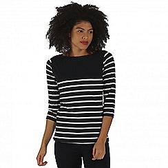Regatta - Navy Preciosa striped top