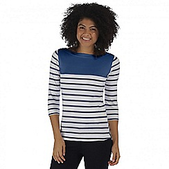 Regatta - Blue Preciosa striped top