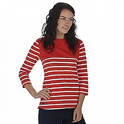 Regatta - Red Preciosa striped top