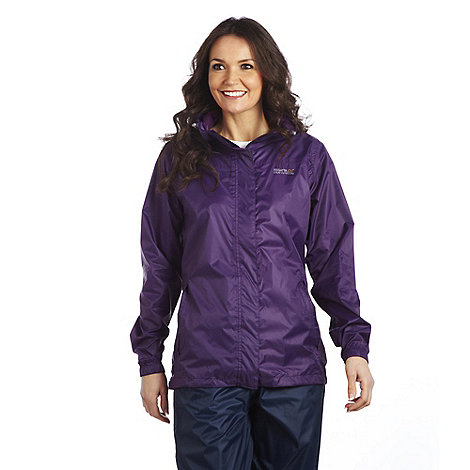 Regatta - Purple cordial womens pack it jacket