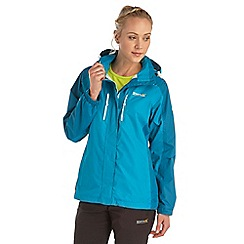Regatta - Bright blue womens calderdale waterproof jacket