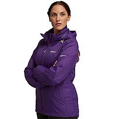 Regatta - Purple corinne waterproof jacket