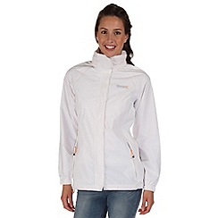 Regatta - White joelle waterproof jacket