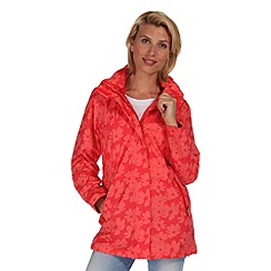Regatta - Coral blush patience waterproof jacket