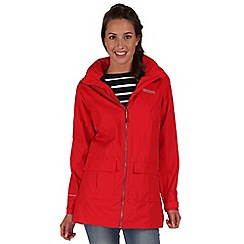 Regatta - Red shayna longer length rain mac