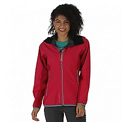 Regatta - Pink womens imber waterproof jacket