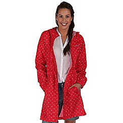 Regatta - Red pack it waterproof jacket