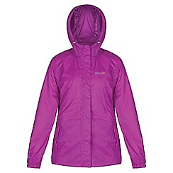 Regatta - Purple pack it waterproof jacket
