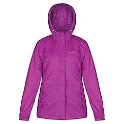 Regatta - Purple pack it waterproof jacket