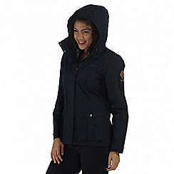 Regatta - Navy lanelle waterproof jacket