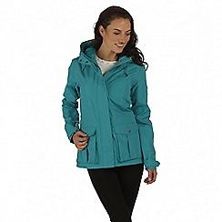 Regatta - Blue lanelle waterproof jacket