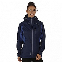 Regatta - Purple cross penine hybrid waterproof jacket
