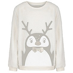 Regatta - Cream 'Chyo' kids christmas fleece jumper