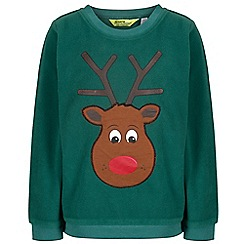 Regatta - Green 'Carew' kids fleece jumper