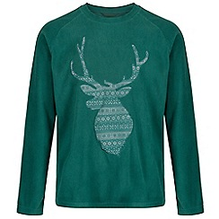 Regatta - Green 'Cain' christmas fleece