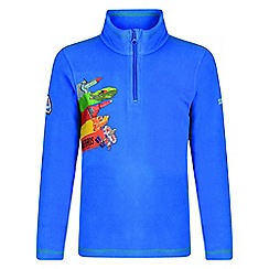 Regatta - Kids Blue 'Crosscut' thunderbird fleece