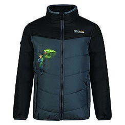 Regatta - Kids Black 'Recharge' lightweight thunderbird jacket