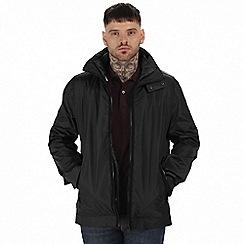 Regatta - Black 'Deansgate' 3 in 1 waterproof jacket