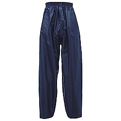 Regatta - Navy kids stormbreak over trouser