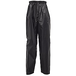 Regatta - Black kids stormbreak over trouser