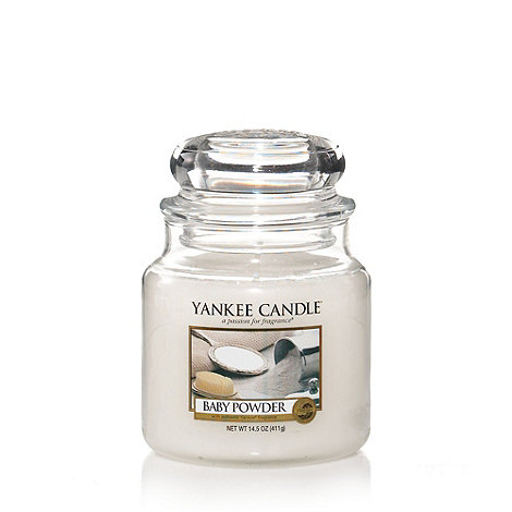 Yankee Candle - Medium baby powder housewarmer candle