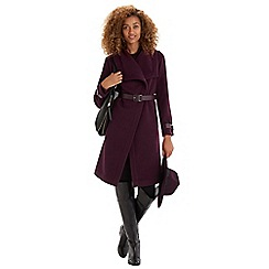 Oasis - Clean belted drape coat