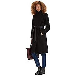 Oasis - Bea Faux Leather Detail Long Coat