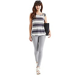Oasis - Stripe fitted bow back tee