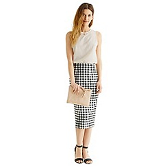Oasis - Gingham pencil skirt