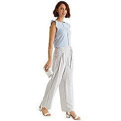 Oasis - Stripe wide leg trouser