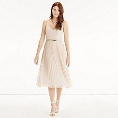 Oasis - Pleated chiffon dress