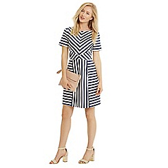 Oasis - Chloe stripe satin dress
