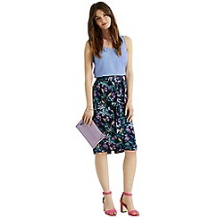 Oasis - Rainforest fuchsia pencil skirt