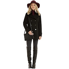 Oasis - Erin faux fur collar pea coat