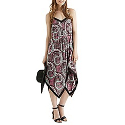 Oasis - Ibiza paisley hanky hem dress
