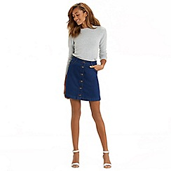 Oasis - Buttoned mini skirt