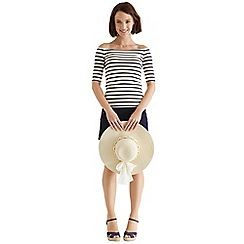 Oasis - Stripe bardot top