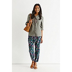 Oasis - Rainforest fuchsia trousers
